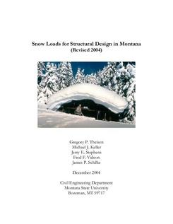 Snow Loads for Structural Design